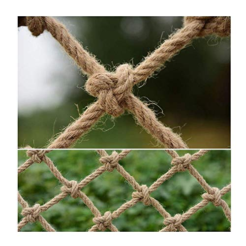 Red de cuerda de cáñamo para paquetes de jardín, decoración de jardín tejida a mano, redes de malla de decoración de pared con fotos, equipo de alojamiento para aves de corral, palomas y aves de caza