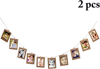 Hanging Picture Frames,Outgeek DIY Picture Frame Display 2 Sets Paper Picture Frame Decorative Hanging
