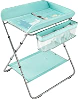 Changing Tables Crib Diaper Station Foldable Cross Leg Style, 2-in-1 Versatile Changer Unit Nursing Dresser Nappy Changing Table, Bearing-15kg