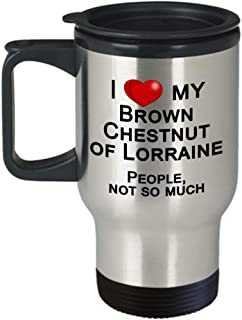 Brown Chestnut of Lorraine Rabbit Travel Mug, Gift for Rabbit Lover - I Love Rabbits, Not People