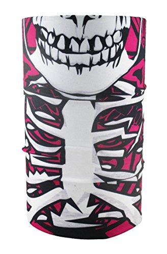 HeadLOOP Multifunktionstuch pink Totenkopf Schlauchtuch Schal Halstuch Kopftuch Microfaser