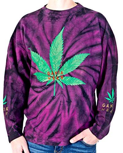 GANJA WEAR Sweatshirt Nr. 2 Größe XL Baumwolle Batik Siebdruck und Stick