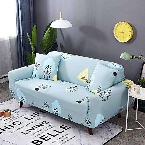 Protector para Sofás Funda de sofá de 2 plazas Fundas de sofá elásticas para Sala de Estar, Funda de Silla elástica para sofá Toalla de sofá 145-185 cm (1 Pieza)
