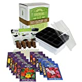 Annual Flower Garden Seed Starter Kit | Basic | 6 Varieties of Flower...