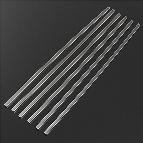 GOZAR 6 Stücke 300 * 6Mm Transparent Acryl Rundstab Solid Rod