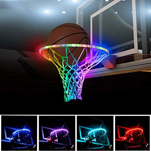 Save %20 Now! KOFOHO Sensor Basketball Hoop Light Light up Basketball Rim Waterproof & Battery Power...