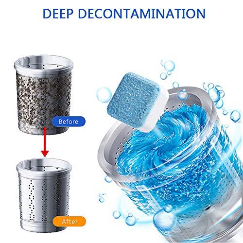 5Pcs Professionelle Waschmaschine Reinigungstablette Tiefenfleckenentferner Waschmaschine Reiniger | Beseitigt schlechten Geruch, Spülmaschine Entkalker