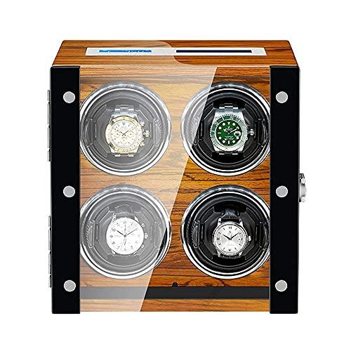 Caja enrolladora de Reloj para Reloj automático Pantalla táctil LCD Exterior de Madera Motor silencioso Luz LED incorporada de Lujo Harmonious Home