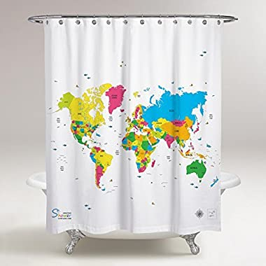 Amazing Shower Curtains - 2018 World Map Shower Curtain 70x70