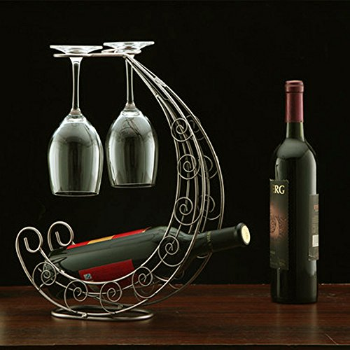 Wine Discplay Rack with Glass Holder