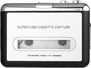 SolidPin Cassette Tape to MP3 CD PC Converter via USB, Portable USB Cassette Tape Player Captures MP3 Audio Music - Compat...