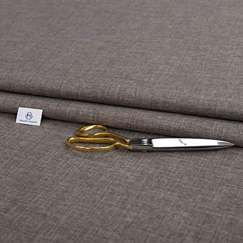 Haaris Imaan Soft Plain Linen Look Upholstery Fabric | Fire Retardant | Fabric by The Per Metre | Curtain, Cushion, Reupholstery, Soft Furnishings, Sofa (Slate Grey)