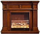 Calentador De Chimenea Eléctrico con Efecto De Llama Realista, Potencia De Visualización De 6 W, Control Remoto Programable (120 * 33 * 102 Cm)