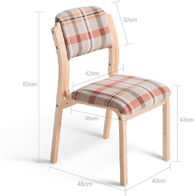 MXXYZ Chaise Pliante Chaises empilables Chaise de Salon Chaise en Bois Chaise d'étude Confortable Chaise de Loisirs Café (Color : A10) A5