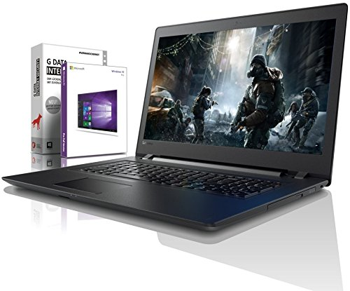 Lenovo (17,3 Zoll) Notebook (Intel Pentium 4415U 4-Thread CPU, 2.30 GHz, 8GB DDR4 RAM, 512GB SSD, Intel HD 610, HDMI, Webcam, Bluetooth, USB3.0, WLAN, Win 10 Prof. 64 Bit, MS Office) #6150