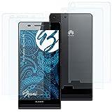 Bruni Schutzfolie kompatibel mit Huawei Ascend P6 Folie, glasklare Bildschirmschutzfolie (2er Set)