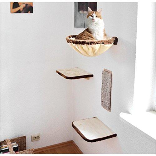 SILVIO DESIGN, Katzen-Kletterwand 4-teilig beige-braun, 21877.000