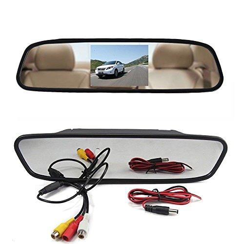 SPECCHIETTO RETROVISORE MONITOR 4,3 TFT LCD PER TELECAMERA RETROMARCIA AUTO SUV