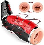 M-asturbadores Masculinos- Dispositivo de para Hombres Que se calientan con función de Hombres eléctrico 3D con función de Masaje y succión, 10 Modos de Masaje Diferentes Vîbrạdọrẹs de pẹnẹ juguetes