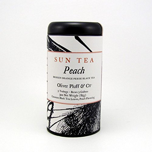 Sun Tea Peach, 3 One-Gallon Teabags in Decorative Tin