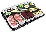 Rainbow Socks - Mujer Hombre Calcetines Sushi Salmón Tamago Atún 2x Maki - 5 Pares - Tamaño 36-40