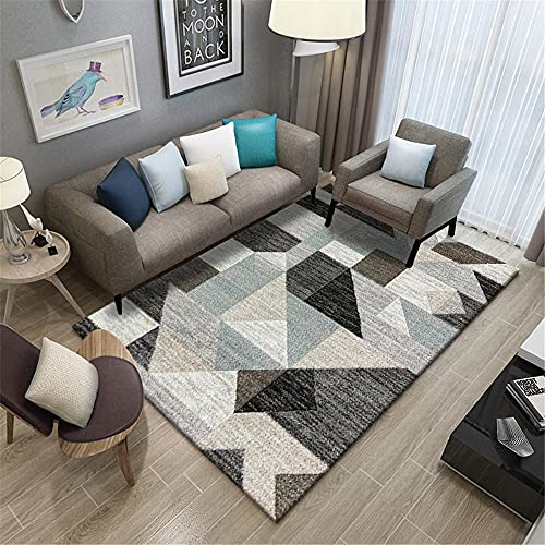 Xiaosua living room accessories Black Living room carpet black irregular geometric retro non-slip carpet anti-mites baby room decoration 80x120cm bedroom accessories 2ft 7.5''X3ft 11.2''