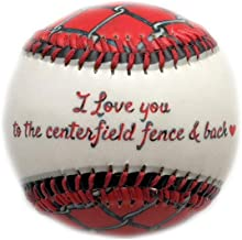 I Love You to The Centerfield Fence and Back Gift Baseball with Ball Cube