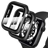 Deilin 2 Stück Hard Hülle mit Glas Displayschutz, Kompatibel mit Apple Watch Series 1/ Serie 2/ Series 3 38mm, Ultradünne, Blasenfreie, PC All-Around Schutzhülle für iWatch 1/2/3 38mm