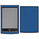 atFoliX Skin Compatibile con Sony PRS-T1 Reader, Sticker Pelle (FX-Carbon-Blue), Struttura...