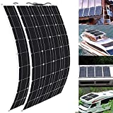 ZRLB-TYN Flexible Solar Panel 400 Watt 18 Volt PET Flexible Solar Panel Portable Monocrystalline Solar Battery Charger for Home RV Caravan Boat and Other Battery