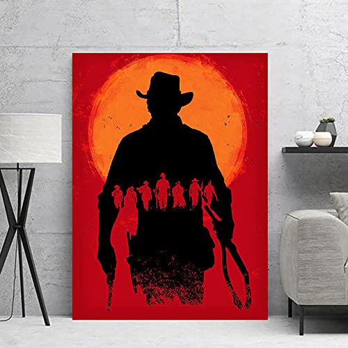 Qingxiang Red Dead Arthur Morgan Canvas Art Poster and Wall Art Picture Print Modern Family Bedroom Decor
