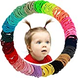 WillingTee Baby Hair Ties Multicolor Baby Girls Hair Ties Finger Hair Ties Thin Hair Ponytail Holder Hair Accessories for Baby Girls Newborn Infants Toddlers (Diameter 2CM 200Pieces)