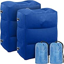2 pcs Inflatable Travel Foot Rest Pillow   Kids Airplane Bed   Adjustable Height Leg Pillow   Make a Flat Bed for Kids and...