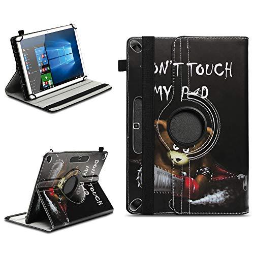 NAUC Schutzhülle kompatibel für Xido Z120 Z110 X111 X110 Tablet Tasche aus hochwertigem Kunstleder Universal 10.1 Hülle Standfunktion 360 Drehbar, Farben:Motiv 2