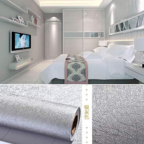 lsaiyy Graue Nachtdekoration Korridor Kleiderschrank Tür Schlafzimmer Tapete Selbstklebende Tapete-60CMX3M