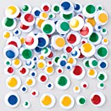 Baker Ross AR529 Colored Self Adhesive Wiggle Eyes - Pack of 120, Wiggle Eyes for Kids Arts and Craft Essentials or Craft Box