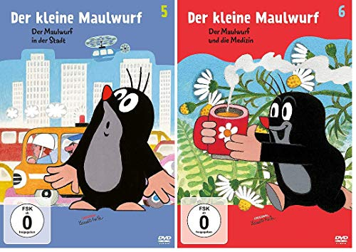 Der kleine Maulwurf - 2 DVDs (Der Maulwurf in der Stadt/ und die Medizin) 5+6 im Set - Deutsche Originalware [2 DVDs]