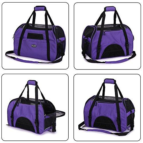 BabycarePro BabycarePro Hundetasche für Hunde & Katzen mit Tragegriff und Schultergurt Tragetasche Komfort Airline Genehmigte Hundetasche Weich-seitig Hund Tasche mit Matte belastet 7 kg
