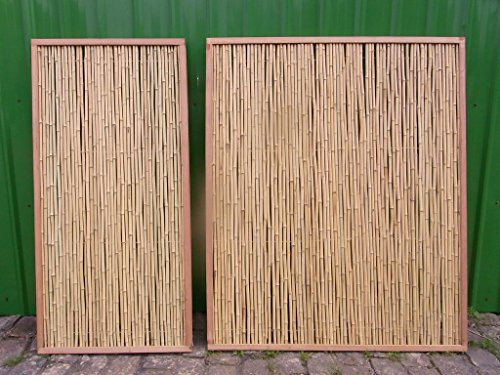 Bambuszaun Gartenzaun Bambus Sichtschutzzaun Sichtschutzwand Bambus Lai Tao (90 x 180 cm)