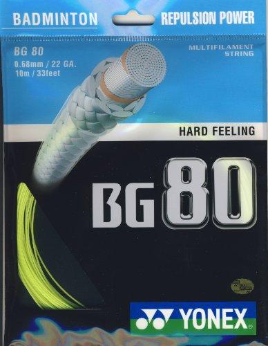 YONEX BG80 Jeu de Cordage de Badminton