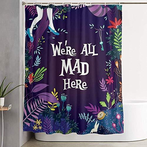 DHGER Cortina de la Ducha Funny Fabric Shower Curtain Alice We