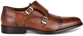 FRANCO CUADRA Men's Monkstrap Shoes in Genuine Leather