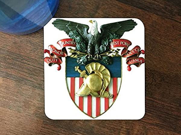 West Point Acadamey Silicone Drink Beverage Coaster 4 Pack By Compass Litho