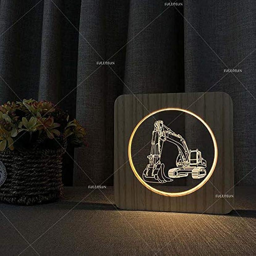 今バレル歯痛低電力ナイトライト、LEDタッチライト、掘削機の形状、創造的なUSBライト、カラフルなベッドルームのベッドサイドテーブルランプ