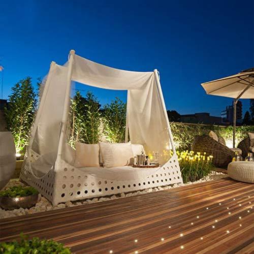 DNNAL Cama de terraza al Aire Libre, Cama de ratán Silla acostada Silla de Ocio al Aire Libre Cama de Ocio Patio de balcón Reclinable Imitado Rattan Beach Cama Redonda