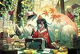 Painting Puzzle Decoración Para Adultos Y Niños 1000 Piezas Puzzles Puzzle Madera Anime Chica Y Jabalí Rompecabezas Educativos Juegos Para Regalo De Año Nuevo De Vacaciones De Invierno (75 × 50 Cm)