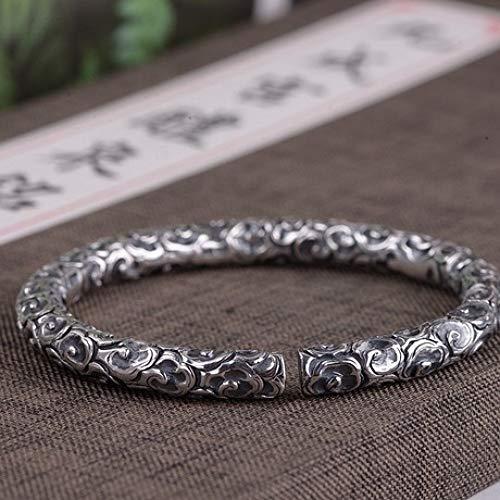 zhenfa Armband, voller Silber Retro Silber Silber Wolke Modus Welt ge offene Armband, Elegante für alle zu tragen, Schmuck-Box, jeden Moment-schöne Geschenk