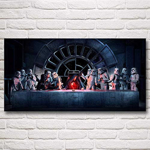cgsmvp Star Wars Filmplakat Darth Vader Das letzte Abendmahl Seidenmalerei Wandkunst Drucke Dekoration Bilder Wohnzimmer / 50x100cm-kein Rahmen