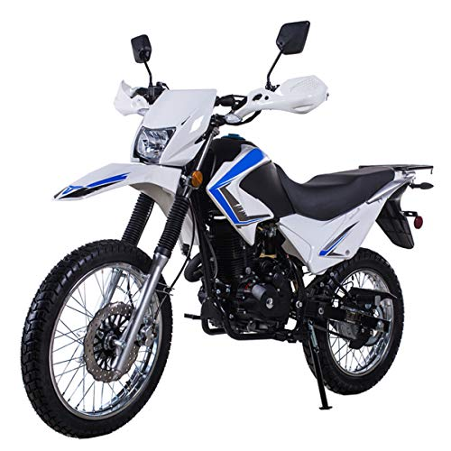 X-PRO 250 Motorcycle Scooter Gas Moped Scooter 229cc Adults Motorcycle Street Scooter,White