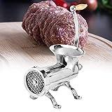 Emoshayoga Picadora de Carne Manual Grande de Acero Inoxidable Picadora multifunción Máquina de Picar embutidora para diversas Especias de Carne